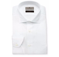 Canali - Solid Egyptian-Cotton Dress Shirt
