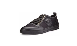 Versace - Leather/Canvas Low-Top Sneakers