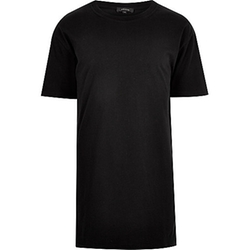 River Island - Black Longer Length T-Shirt