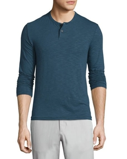 Theory  - Gaskell Coasting Long-Sleeve Henley Shirt