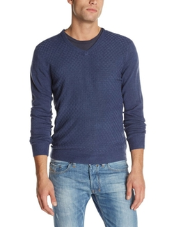 American Icon - V-Neck Texture Sweater