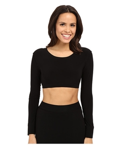 Kamalikulture By Norma Kamali - Crew Neck Cropped Top
