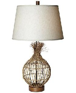 Pacific Coast - Bamboo Twigs Wild Lodge Table Lamp