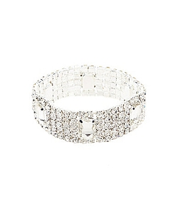 Cezanne - Crystal Station Stretch Bracelet