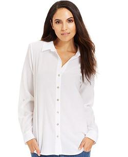 Eileen Fisher  - Long-Sleeve Button-Down Shirt