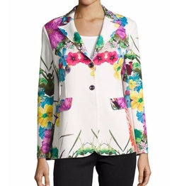 Berek - Flower-Print Pop Jacket