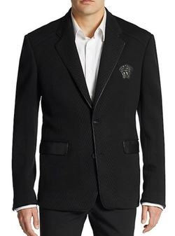 Versace Collection  - Leather Trimmed Corduroy Sportcoat