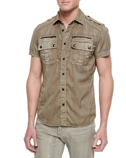 Belstaff - Franklin Short-Sleeve Two-Pocket Shirt