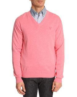 Gant  - V-neck Cotton Sweater