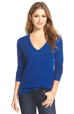 Halogen - V-Neck Lightweight Cashmere Sweater