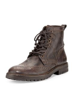 John Varvatos   - Stanley Wing-Tip Leather Boot