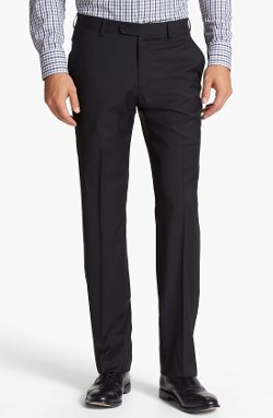 John Varvatos Star USA  - Astor Flat Front Wool Trousers