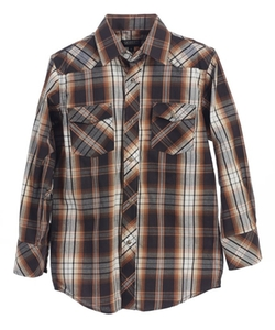 Gioberti - Casual Western Plaid Long Sleeve Shirt