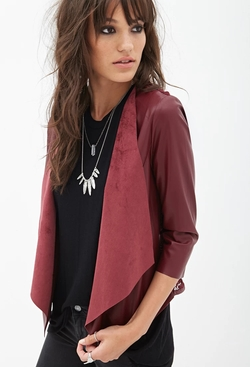 Forever 21 - Faux Leather Crochet Jacket