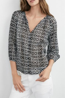 Velvet - Patterned Blouse