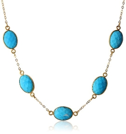Amazon Collection - Station Faceted Bezel Necklace