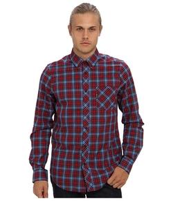 Ben Sherman  - Long Sleeve Pop Tartan Poplin Check Woven Shirt