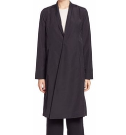 Eileen Fisher - Solid Long Sleeve Coat