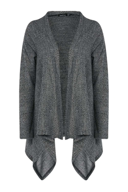 Boohoo - Sarah Salt & Pepper Waterfall Cardigan