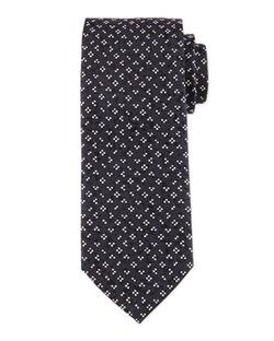 Boss Hugo Boss  - Flower & Dot-Print Silk Tie