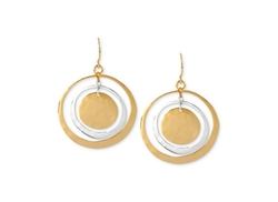 Robert Lee Morris - Two-Tone Hammered Circle Orbital Earrings