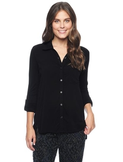Splendid - Jersey Sleeve Shirt