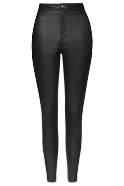 Topshop - Faux Leather Skinny Trousers