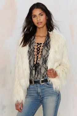 Nasty Gal - Glamorous Jessie Faux Fur Jacket