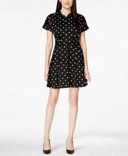Cece By Cynthia Steffe - Polka-Dot-Print Shirt Dress