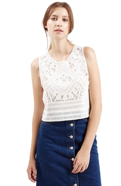 Topshop - Cornelli Lace Shell Top