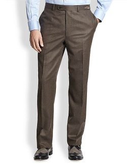 Saks Fifth Avenue Collection  - Flannel Trousers