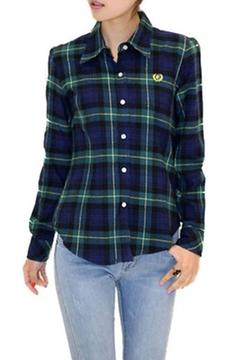 King Ma - Fashion Check Flannel Shirt