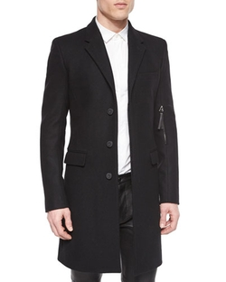 Helmut Lang   - Basic Wool Overcoat