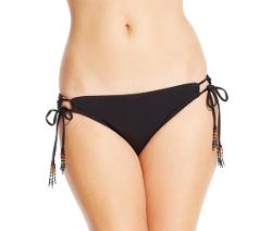 Bikini Lab  - Beaded Tie-Sides Hipster Bikini Bottom