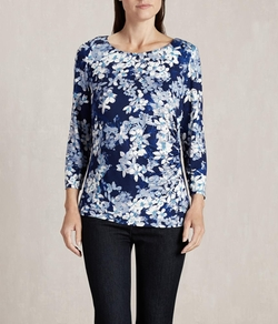 Austin Reed - Viyella - Bluebell Floral Jersey Top