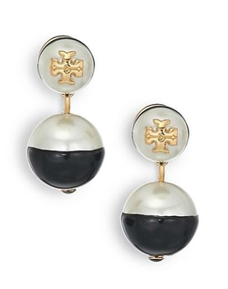 Tory Burch  - Evie Dipped Faux Pearl Drop Earrings