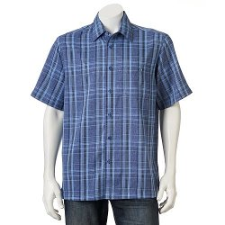 Haggar - Patterned Textured Casual Button-Down Shirt