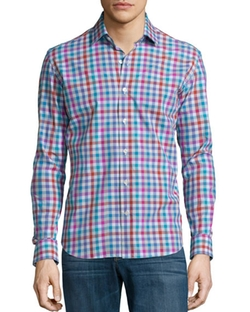 Culturata - Plaid Long-Sleeve Sport Shirt