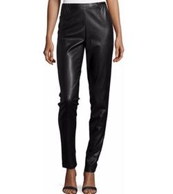 Caroline Rose - Modern Faux-Leather & Ponte Easy Leggings