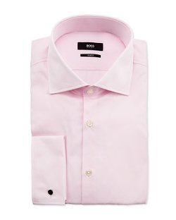 Hugo Boss  - Jacco Slim-Fit French-Cuff Dress Shirt