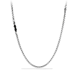 David Yurman - Black Onyx Box Chain Necklace