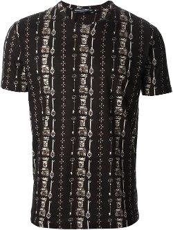 Dolce & Gabbana  - Key Print T-Shirt