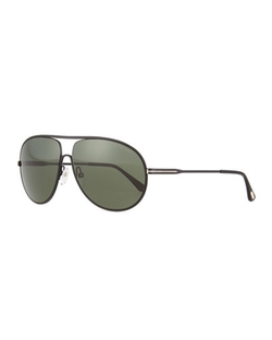Tom Ford - Cliff Matte Aviator Sunglasses