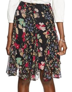 Ralph Lauren - Petite Floral Georgette Skirt