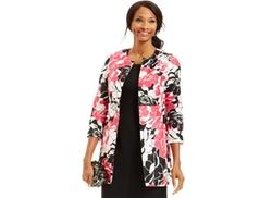 Kasper  - Floral-Print Long Jacket