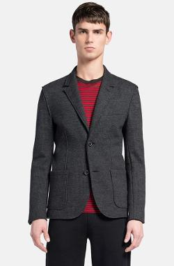 Lanvin - Grey Deconstructed Houndstooth Jersey Wool Sportcoat
