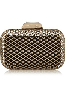 Jimmy Choo  - Cloud Gold-Tone Box Clutch