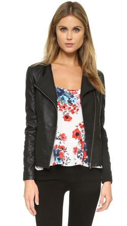 Cupcakes And Cashmere  - Caitlyn Vegan Leather Jacket