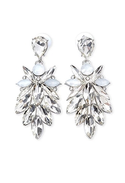 Forever 21 - Rhinestone Petal Drop Earrings