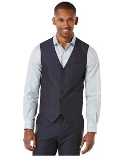 Perry Ellis - Linen-Blend Slim-Fit Vest